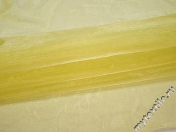Органза желтого цвета полиэстер ГВ591