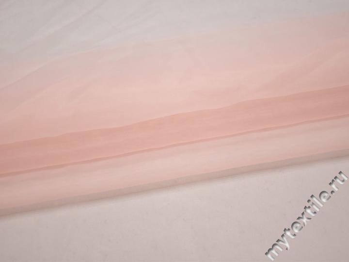 Органза розового цвета полиэстер ГВ599