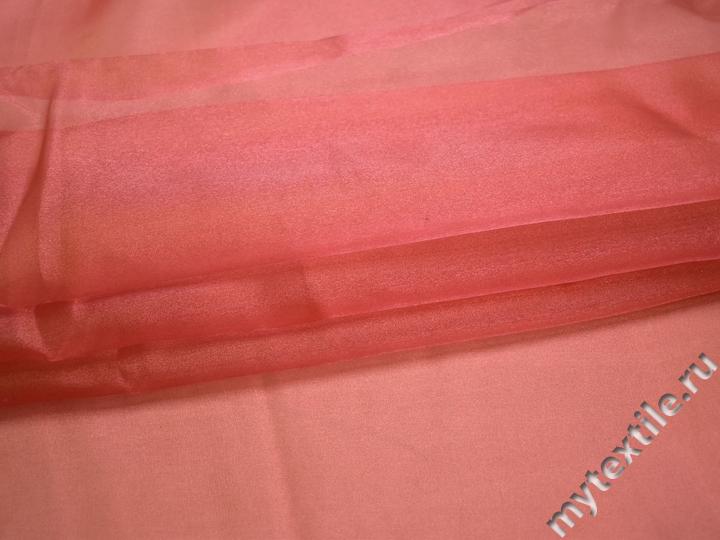 Органза терракотового цвета полиэстер ГВ66