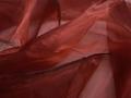 Органза красного цвета полиэстер ГВ69