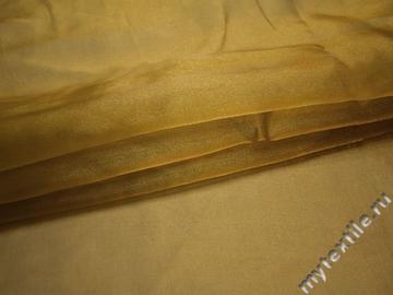 Органза золотого цвета полиэстер ГВ612