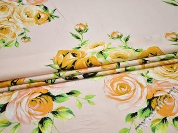 Штапель цветочный узор вискоза БД179