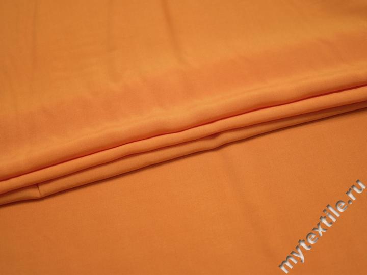 Штапель оранжевого цвета вискоза БГ446