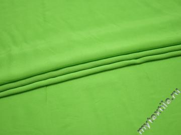 Штапель салатового цвета вискоза БГ445
