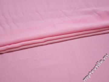 Штапель розового цвета вискоза БГ443