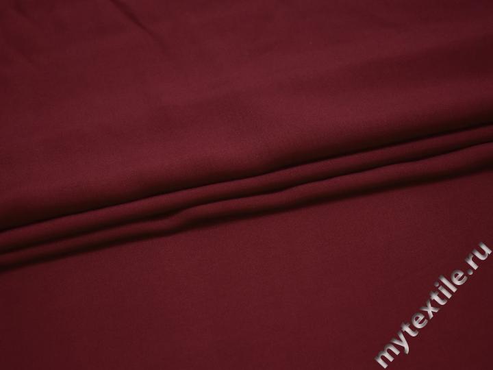 Штапель бордового цвета вискоза БГ439