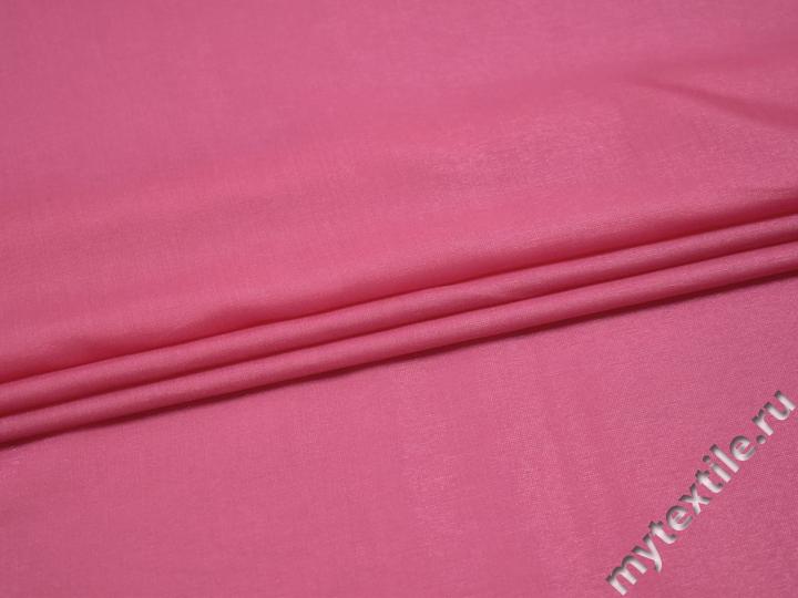 Вискоза розового цвета c полиэстером БА337