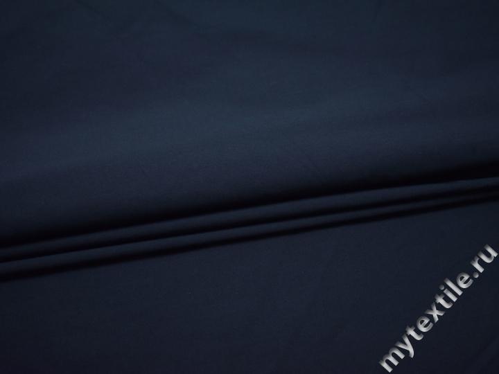 Вискоза синего цвета с эластаном БА350