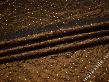 Тафта коричневого цвета пайетки полиэстер БВ657