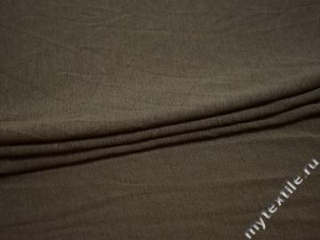 Трикотаж коричневый вискоза хлопок АЕ731