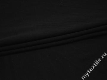 Трикотаж черный хлопок АЕ729