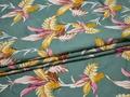 Вискоза с эластаном цветы листья ББ223