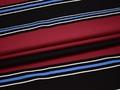 Вискоза бордовая в полоску ББ121