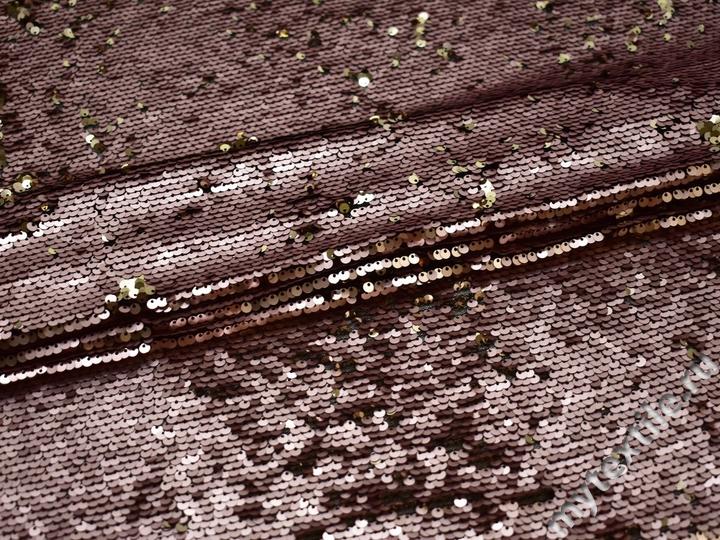 Сетка с розовыми пайетками полиэстер ГБ472