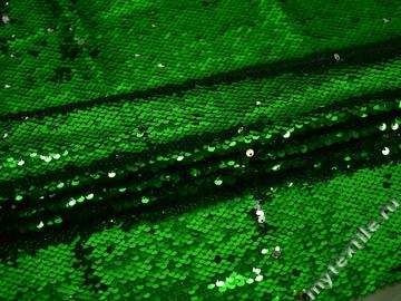 Сетка с зелеными пайетками полиэстер ГБ469