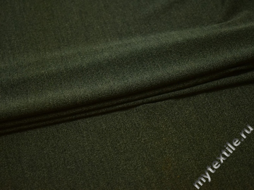 Трикотаж зеленый вискоза полиэстер АЁ533