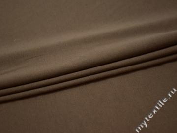Трикотаж джерси коричневый хлопок полиэстер АВ742