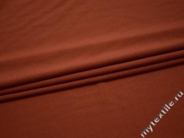 Костюмная терракотовая ткань вискоза эластан ВА463