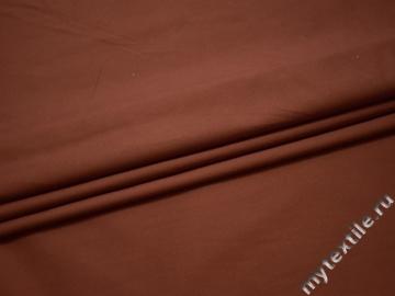 Костюмная терракотовая ткань вискоза хлопок эластан ВА465