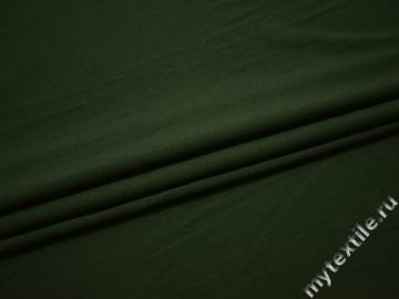 Костюмная зеленая ткань вискоза полиэстер эластан ВА466
