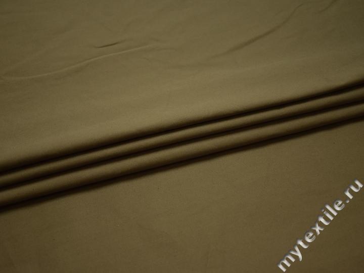 Рубашечная оливковая ткань хлопок БВ1114