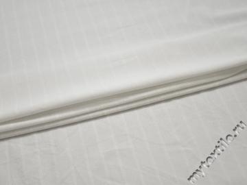 Трикотаж белый фактурная полоска хлопок АЁ124