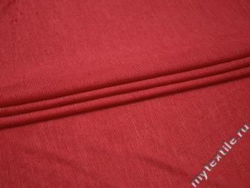 Трикотаж красный шелк лайкра АЁ110