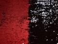 Сетка с красными и черными пайетками полиэстер ГБ61