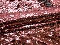 Сетка с серебряными и брусничными пайетками полиэстер ГБ65