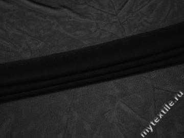 Сетка-стрейч черного цвета полиэстер БД252