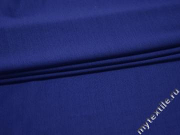 Трикотаж синий вискоза хлопок АЕ146