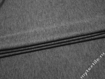 Трикотаж серый хлопок полиэстер АЕ135