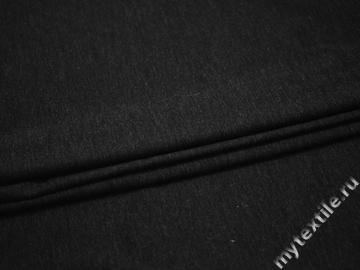 Трикотаж темно-серый шерсть полиэстер АЕ133