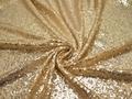 Сетка с золотыми пайетками полиэстер ГВ617