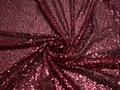 Сетка с бордовыми пайетками полиэстер ГВ621