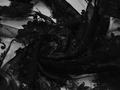 Сетка черная с вышивкой полиэстер БГ65