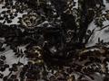Сетка черная с вышивкой полиэстер БГ610