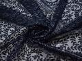 Сетка синяя с вышивкой полиэстер БГ612