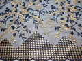 Сетка синяя с вышивкой полиэстер БГ620