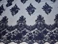 Сетка синяя с вышивкой полиэстер БГ654