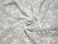 Сетка белая с вышивкой полиэстер БГ661