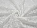 Сетка белая с вышивкой цветы полиэстер ГБ460