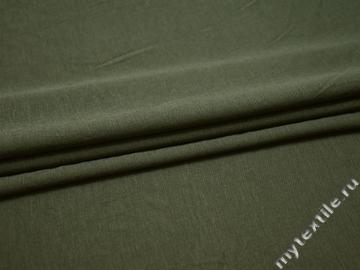 Трикотаж зеленый хлопок полиэстер АД131