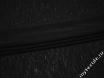 Трикотаж черный из шерсти АК660
