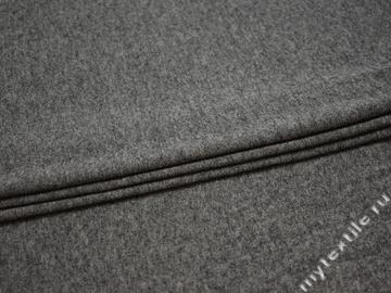 Трикотаж серый хлопок шерсть АК655