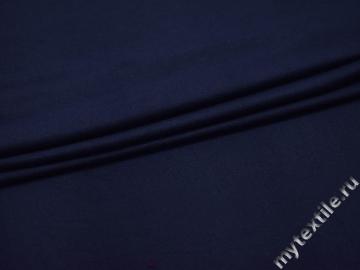 Трикотаж синий вискоза хлопок АК637