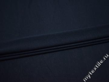 Трикотаж синий вискоза хлопок АК616