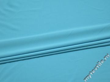 Трикотаж голубой полиэстер АК547