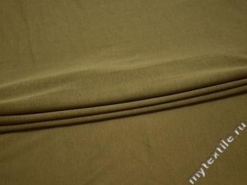 Трикотаж оливковый хлопок АК525