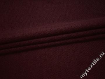 Трикотаж бордовый шерсть полиэстер АГ116